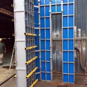 Full Height Single Story Wall Formwork Setting