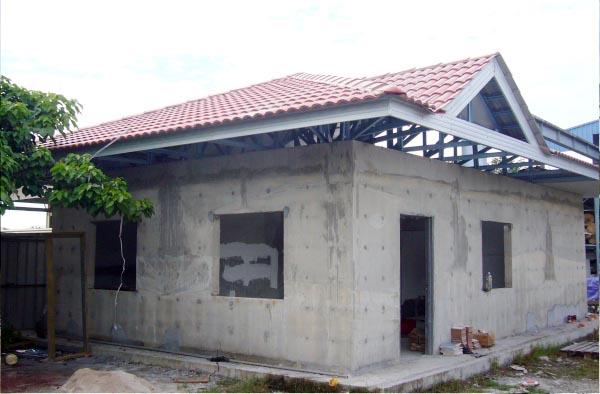 Foam concrete fast build house for Foam concrete house
